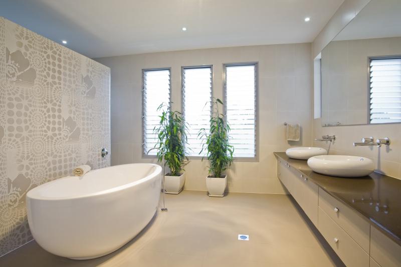Теплый пол ванной