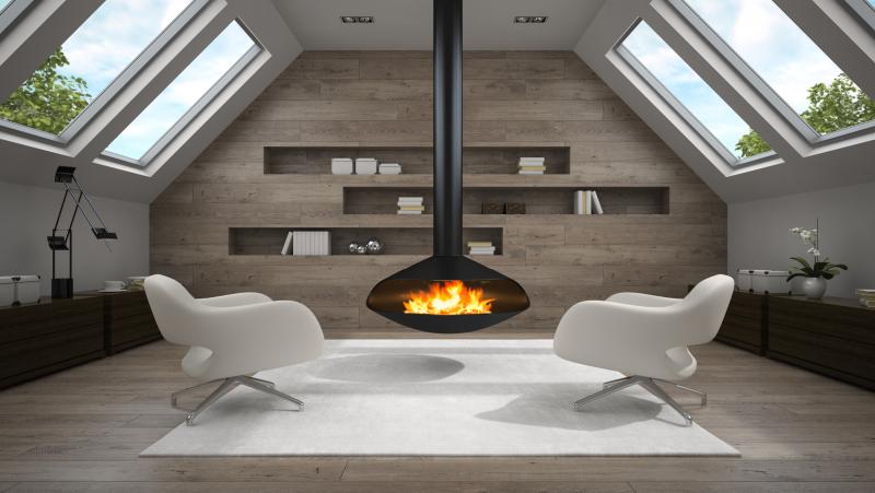 Как выбрать дровяной камин подвесной?