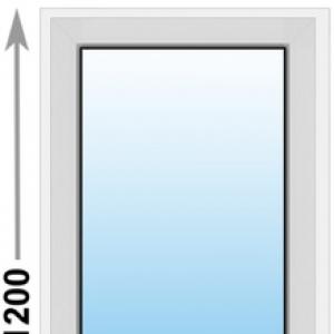 Алюминиевое окно Provedal глухое 600х1200 (ШхВ)