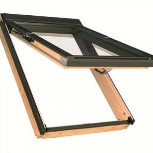Мансардное окно Факро FPP-V U3 preSelect 78х118см деревянное, с комбинированным открыванием