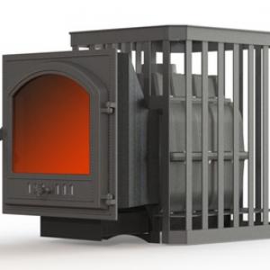 Банная печь ПароВар 18 сетка-ковка (К505)