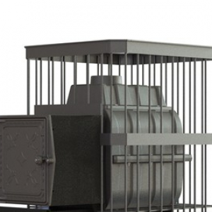 Банная печь ПароВар 18 сетка-прут (К211)