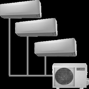 Мульти кондиционер Hyundai H-ALMO1-28H3-UI148/O на 3 комнаты
