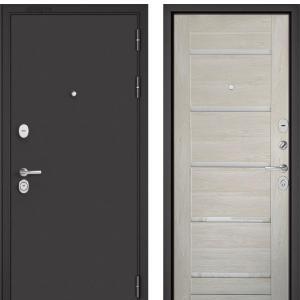 Входная дверь Бульдорс STANDART-90 Черный шелк/Дуб жемчужный CR-3