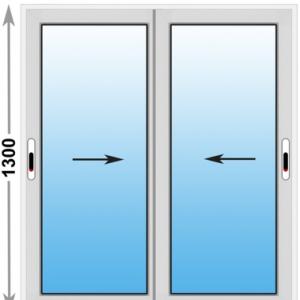 Алюминиевое окно Provedal 2-ух полозное 1300х1300 (ШхВ)