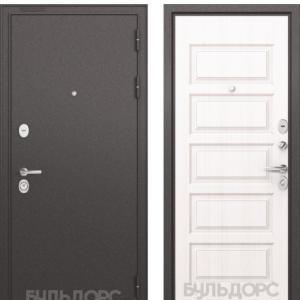 Входная дверь Бульдорс STANDART-90 Черный шелк/Дуб светлый матовый 9S-108
