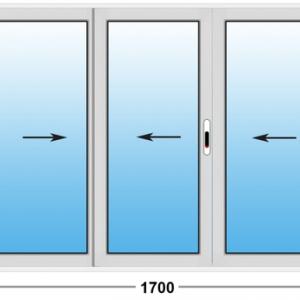 Алюминиевое окно Provedal 2-ух полозное 1700х1100 (ШхВ)