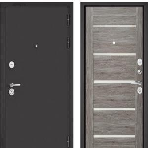 Входная дверь Бульдорс STANDART-90 Черный шелк/Дуб дымчатый CR-3