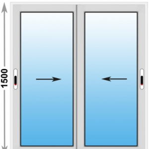 Алюминиевое окно Provedal 2-ух полозное 1500х1500 (ШхВ)