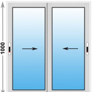 Алюминиевое окно Provedal 2-ух полозное 1000х1000 (ШхВ)