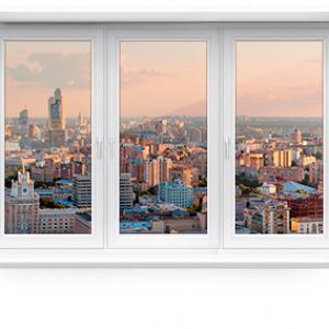 Пластиковое окно трехстворчатое KBE ENERGY 1800 х 1500 мм