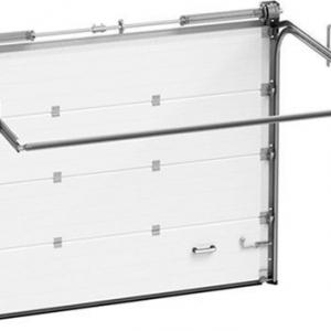 Гаражные секционные ворота Алютех TREND 2750х2125 мм (S-гофр) c автоматикой Marantec