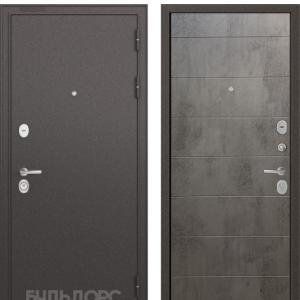 Входная дверь Бульдорс STANDART-90 Черный шелк/Бетон темный 9S-135