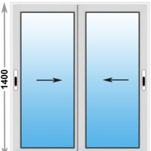 Алюминиевое окно Provedal 2-ух полозное 1400х1400 (ШхВ)