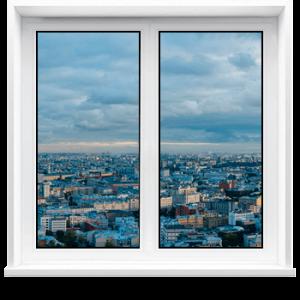 Пластиковое окно 1200 х 1800мм двухстворчатое VEKA WHS 60