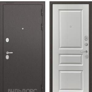 Входная дверь Бульдорс STANDART-90 Черный шелк/Ларче белый 9SD-2