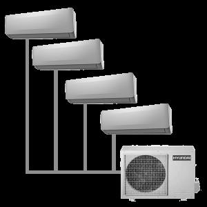 Мульти кондиционер Hyundai H-ALMO1-36H4-UI149/O на 4 комнаты