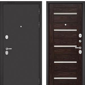 Входная дверь Бульдорс STANDART-90 Черный шелк/Дуб темный CR-3