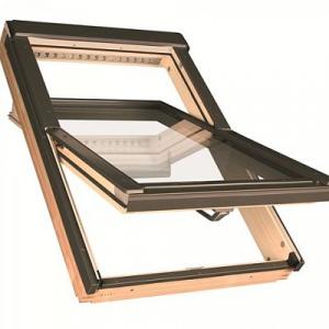 Мансардное окно Факро FTP-V L3 114х140см, деревянное, среднеповоротное