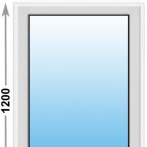 Алюминиевое окно Provedal глухое 900х1200 (ШхВ)