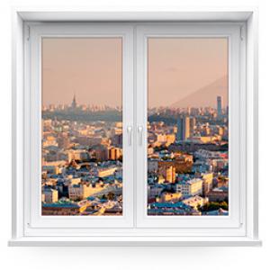 Пластиковое окно двухстворчатое KBE ENERGY 1500 х 1500 мм