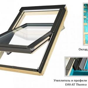 Мансардное окно Факро FTP-V U5 Thermo, 114 х 118 см.