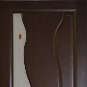 Межкомнатная дверь Дворецкий Лагуна стекло венге